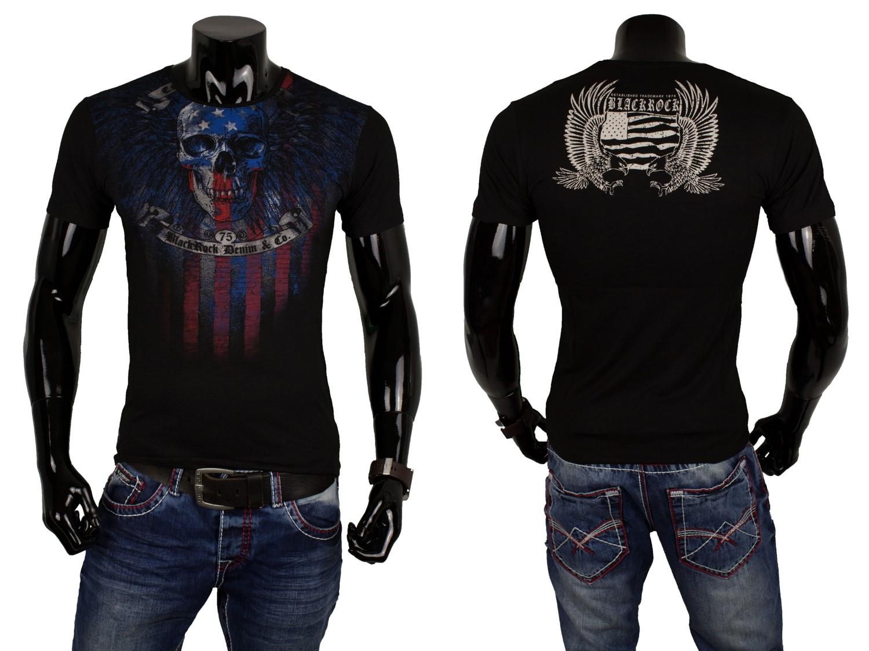 jeel herren t shirt totenkopf skull usa amerika flagge. Black Bedroom Furniture Sets. Home Design Ideas